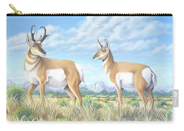 Pronghorn By The Tetons Carry-all Pouch
