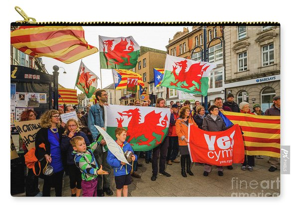 Protesting In Support Of Catalonia Carry-all Pouch