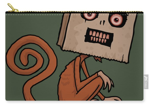 Psycho Sack Monkey With Text Carry-all Pouch