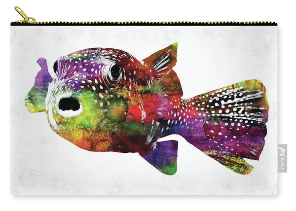 Puffer Fish Watercolor Carry-all Pouch