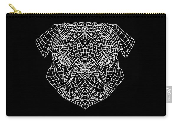 Pug's Face Mesh Carry-all Pouch