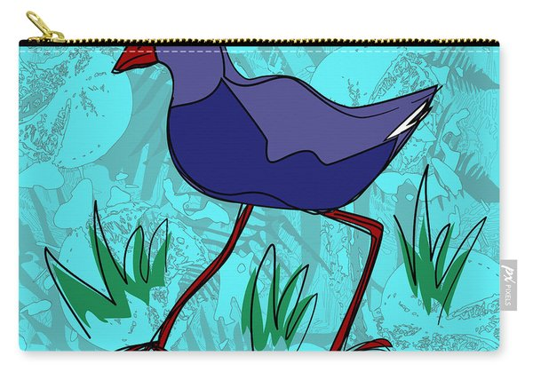 Pukeko In Blue Carry-all Pouch
