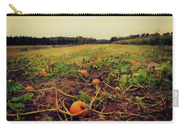 Carry-all Pouch featuring the photograph Pumpkin Picking by Candice Trimble