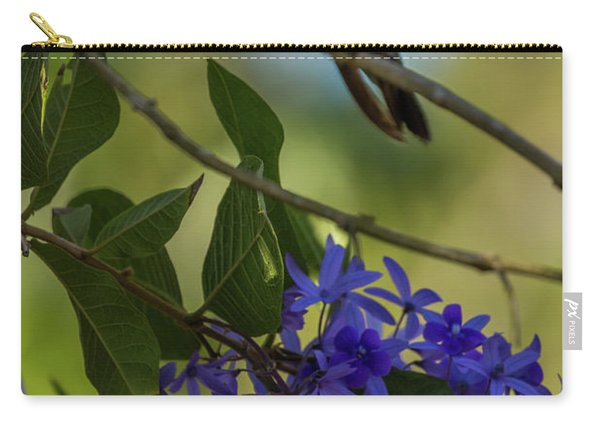 Purple Blossoms And Hummingbird Carry-all Pouch