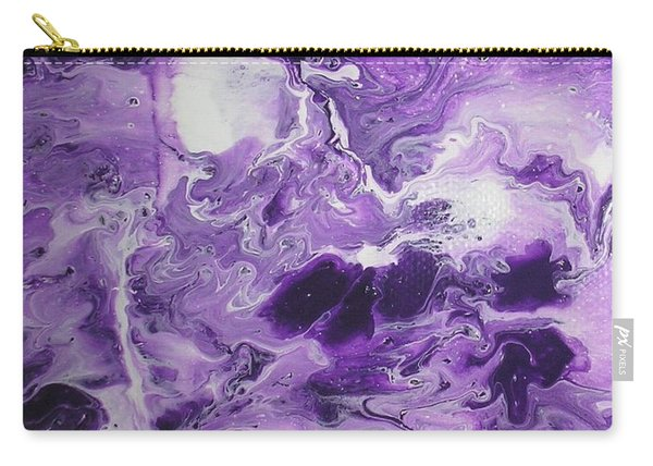 Purple Chaos Abstract 1  Carry-all Pouch