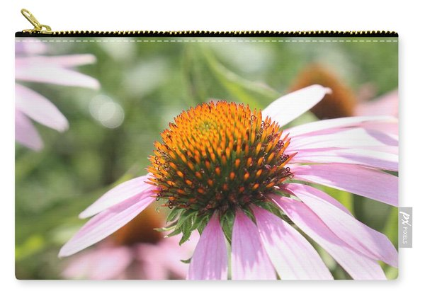 Purple Coneflower Bloom And Petals Carry-all Pouch