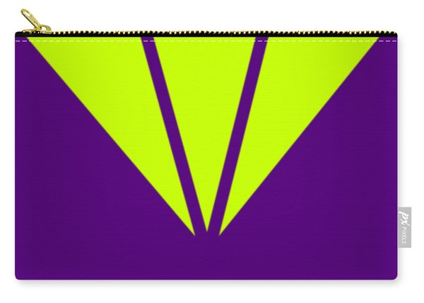 Purple Diamond Yellow Carry-all Pouch