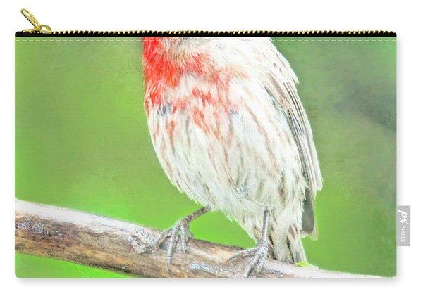 Purple Finch, Animal Portrait Carry-all Pouch