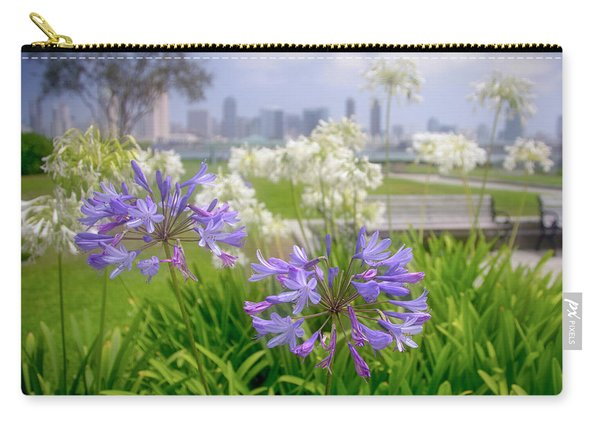 Purple Flowers In San Diego Carry-all Pouch
