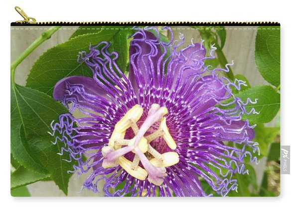 Purple Passionflower Carry-all Pouch