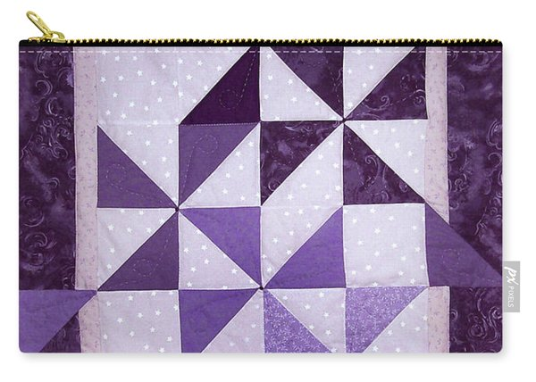 Purple Pinwheels Pirouetting Carry-all Pouch