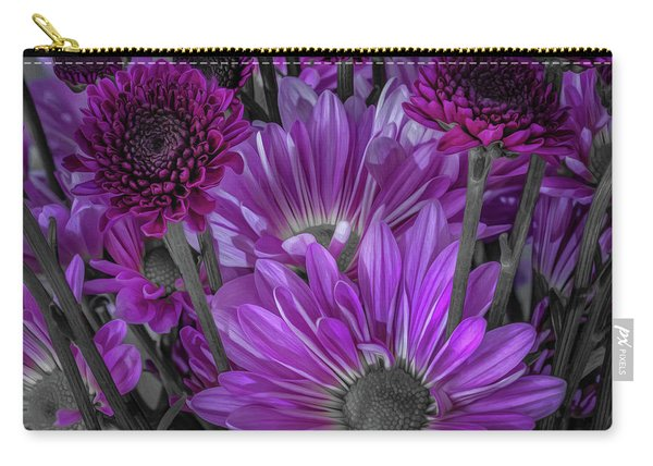 Purple Power Chrysanthem Selective Colorum  Carry-all Pouch