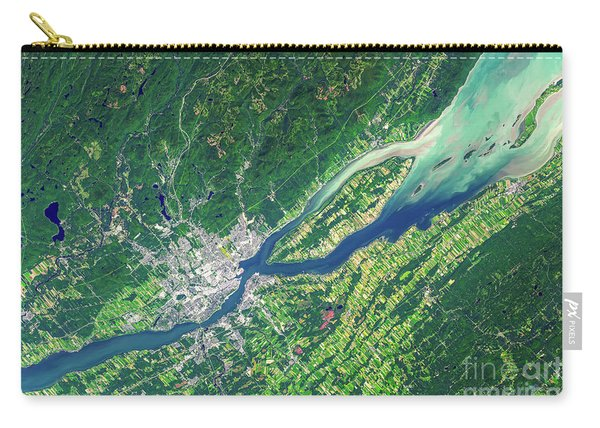 Quebec City From Space Carry-all Pouch