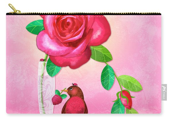 R Is For Rose And Robin Carry-all Pouch