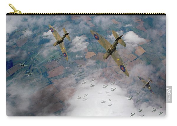 Raf Spitfires Swoop On Heinkels In Battle Of Britain Carry-all Pouch