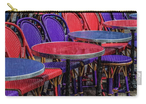 Rain On Paris Tables Carry-all Pouch