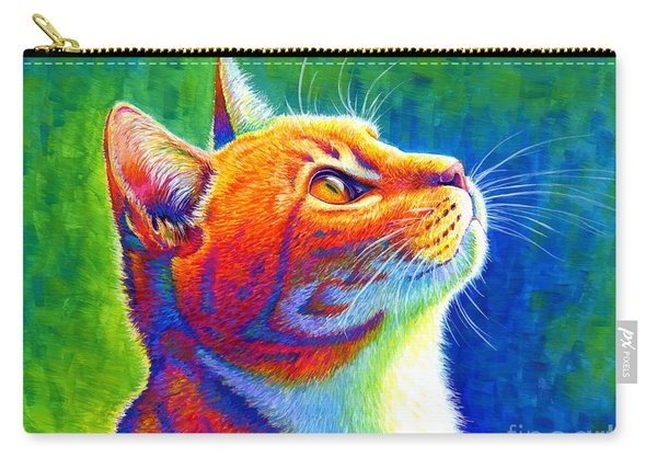 Rainbow Cat Portrait Carry-all Pouch