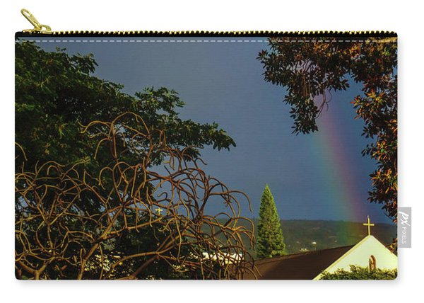 Rainbow Ended At The Church Carry-all Pouch