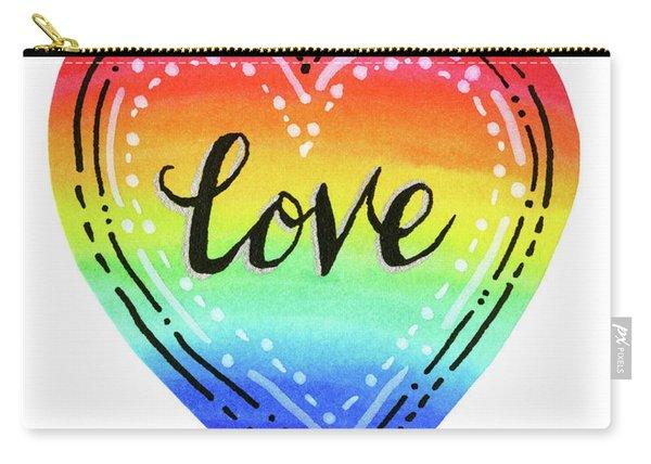 Rainbow Heart Love Carry-all Pouch