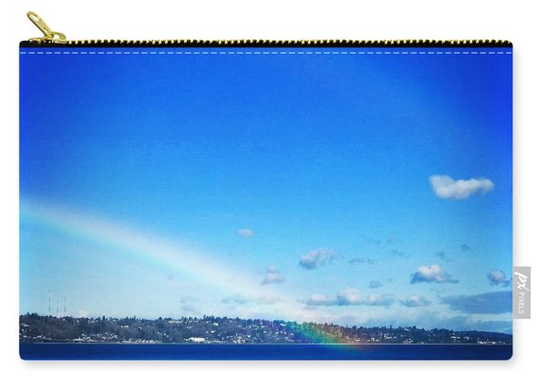 Rainbow In Blue Carry-all Pouch