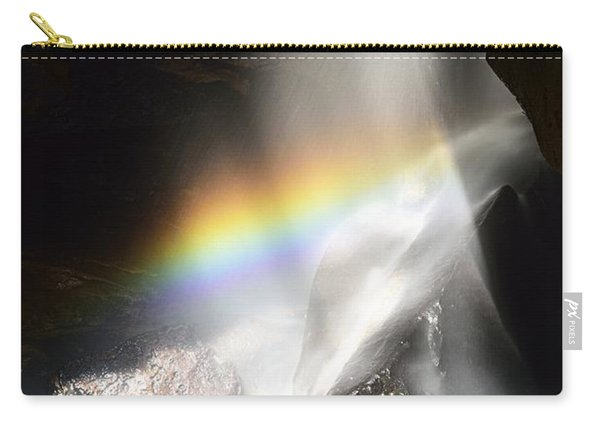 Rainbow In Broken Rock Falls Carry-all Pouch