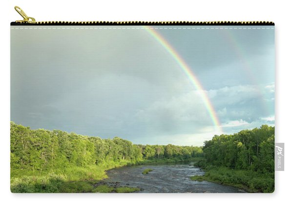 Rainbow Over The Littlefork River Carry-all Pouch