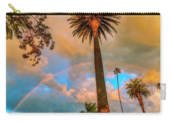 Rainbow Over The Palms Carry-all Pouch
