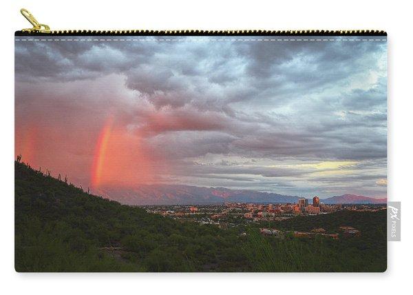 Rainbow Over Tucson Skyline Carry-all Pouch