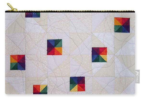 Rainbow Pinwheel Carry-all Pouch