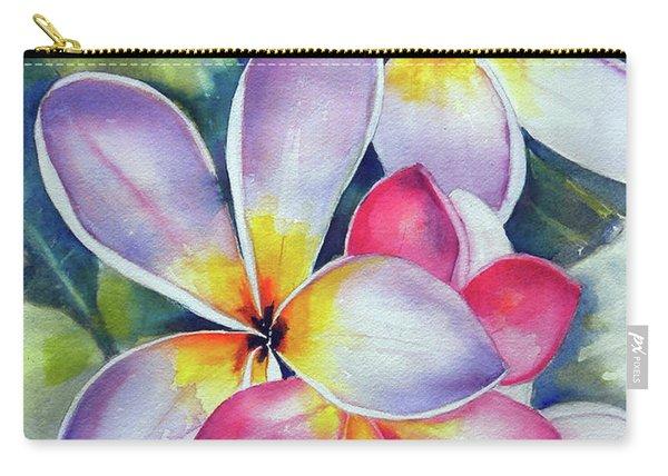 Rainbow Plumerias Carry-all Pouch