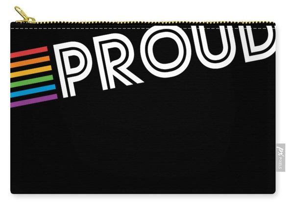 Carry-all Pouch featuring the digital art Rainbow Proud Lgbtq Gay Pride by Flippin Sweet Gear
