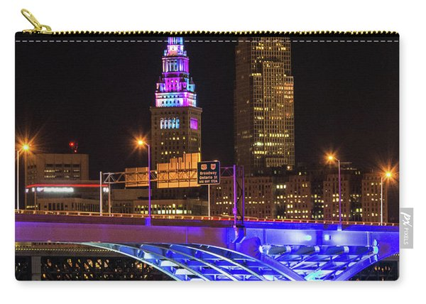 Rainbow Tower In Cleveland Carry-all Pouch