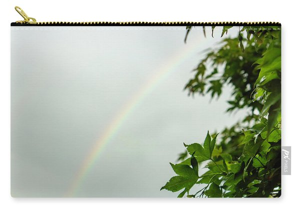 Rainbow With Leaves In Foreground Carry-all Pouch
