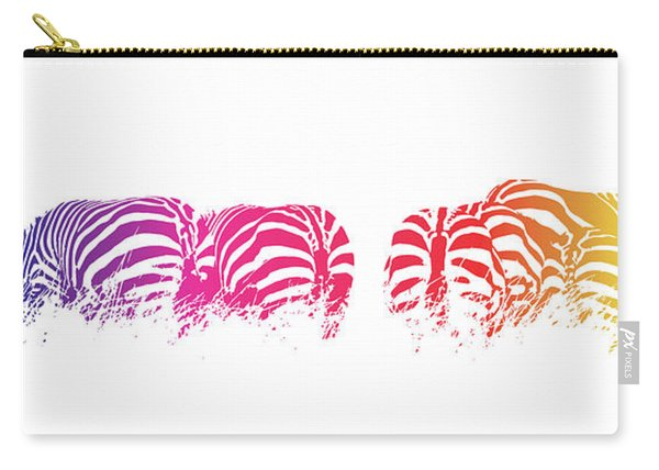 Rainbow Zebras Carry-all Pouch