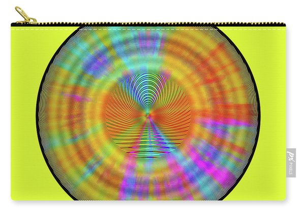 Carry-all Pouch featuring the digital art Rainbwow Sun by Visual Artist Frank Bonilla