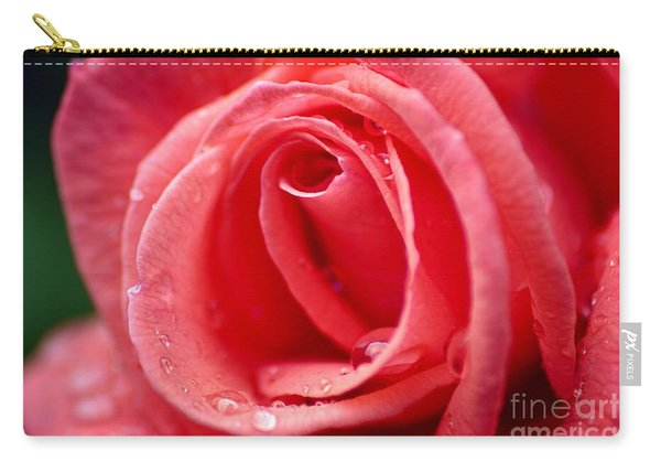 Raindrops On Rose Carry-all Pouch