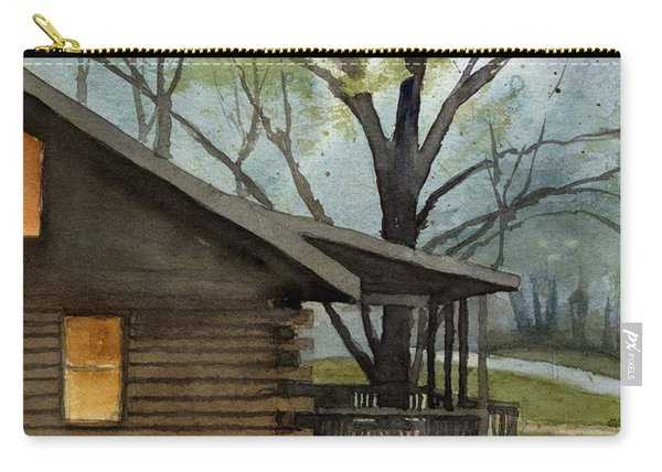 Rainy Day At Harmonie Park Carry-all Pouch