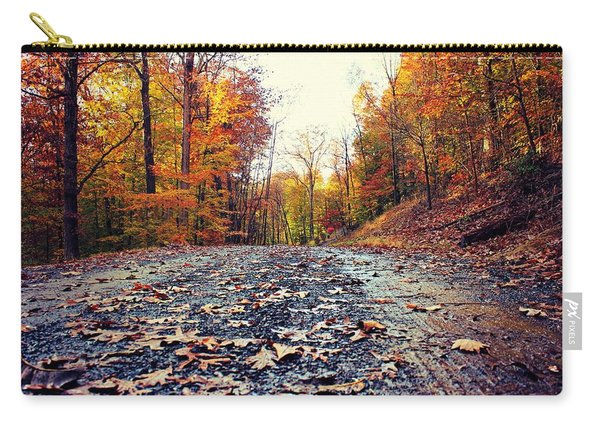Carry-all Pouch featuring the photograph Rainy Fall Roads by Candice Trimble