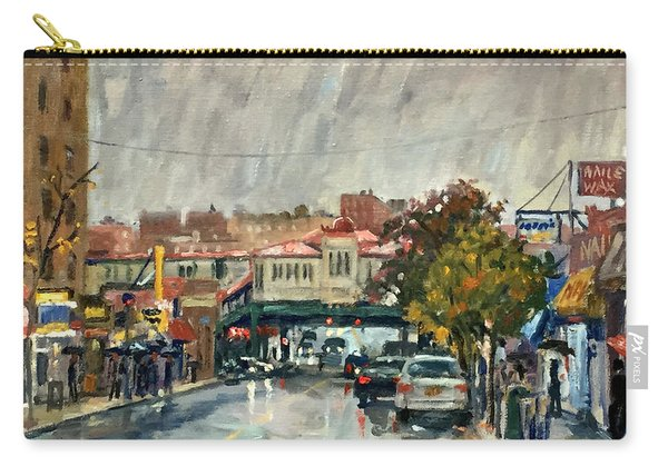 Rainy Morning 231st Street The Bronx Carry-all Pouch