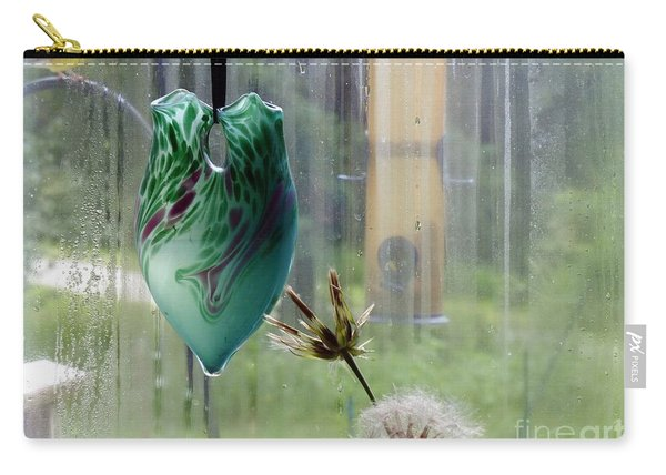 Rainy Morning At The Bird Feeder Carry-all Pouch