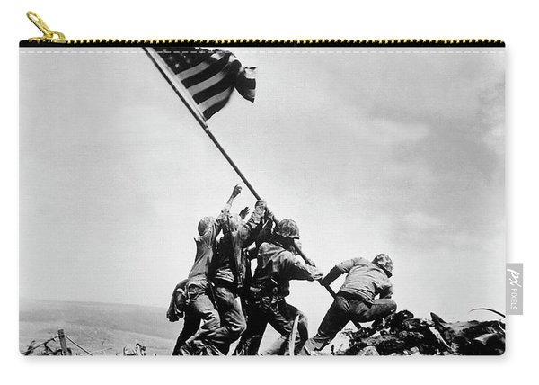 Raising The Flag On Iwo Jima - Ww2 - 1945 Carry-all Pouch