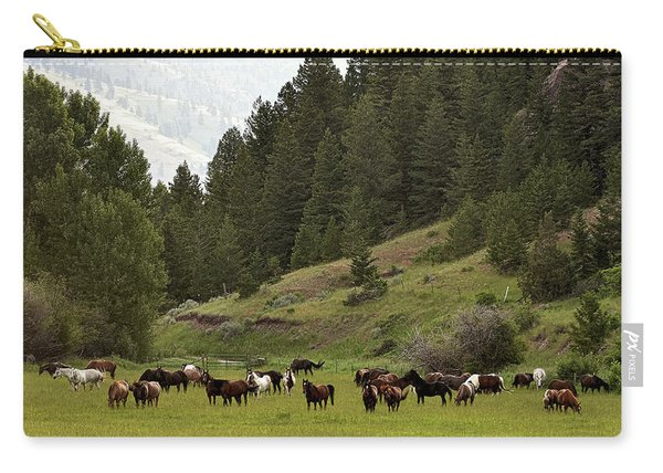 Ranch Horses At Pasture Carry-all Pouch