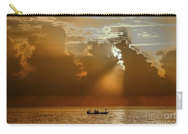 Carry-all Pouch featuring the photograph Rays Light The Way by Tom Claud