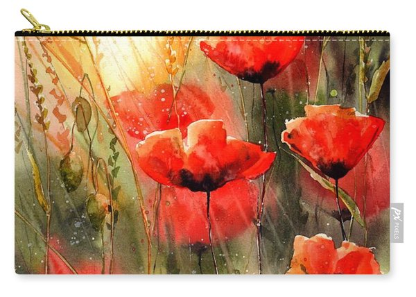 Real Red Poppies Carry-all Pouch
