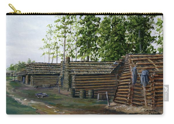 Rebel Huts, Port Hudson, Louisiana 1863 Carry-all Pouch