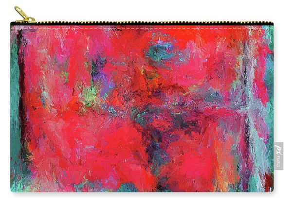 Rectangular Red Carry-all Pouch