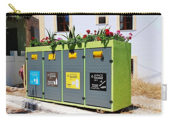 Recycling Bins On Halki Island Carry-all Pouch
