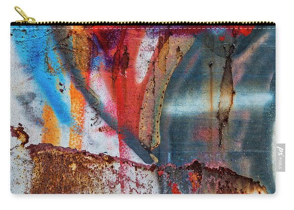 Red Blue Graffiti Abstract Square 2 Carry-all Pouch