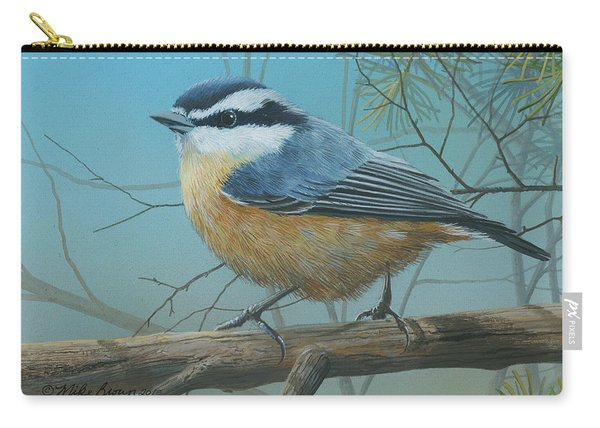 Red Brested Nuthatch Carry-all Pouch