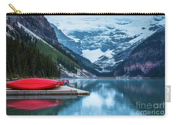 Red Canoes In The Rain Carry-all Pouch
